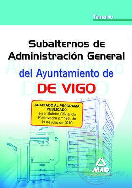 (10) TEMARIO DE SUBALTERNOS DE ADMINISTRACION GENERAL