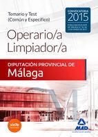 OPERARIO/A LIMPIADOR/A DE LA DIPUTACIÓN PROVINCIAL DE MÁLAGA. TEMARIO Y TEST (CO