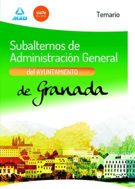 SUBALTERNOS DE ADMINISTRACION GENERAL DEL AYUNTAMIENTO DE GRANADA