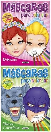 MASCARAS PARA COLOREAR (2 TITULOS)