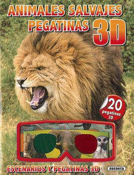 ANIMALES SALVAJES PEGATINAS 3D