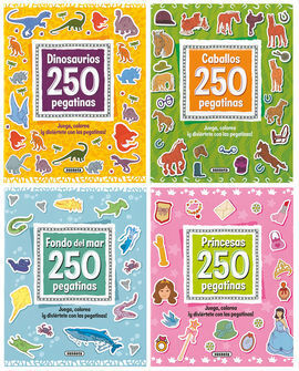 250 PEGATINAS SURTIDAS