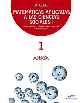 MATEMÁTICAS APLICADAS A LAS CIENCIAS SOCIALES I. 1 BACHILLERATO