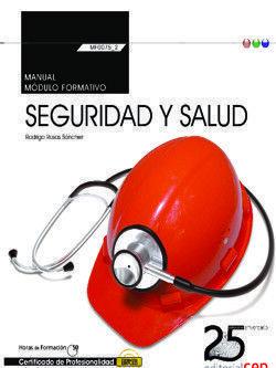 MANUAL. SEGURIDAD Y SALUD (TRANSVERSAL: MF0075_2). CERTIFICADOS DE PROFESIONALID