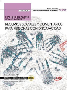CUADERNO DEL ALUMNO. RECURSOS SOCIALES Y COMUNITARIOS PARA PERSONAS CON DISCAPAC
