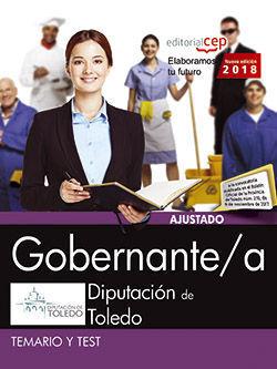 GOBERNANTE/AN DIPUTACION TOLEDO TEMARIO Y TEST