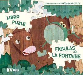 FABULAS DE LA FONTAINE LIBRO PUZZLE + 5 AÑOS