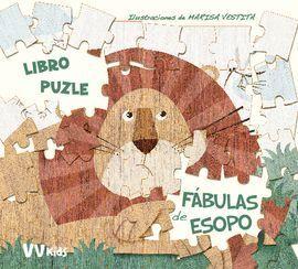 FABULAS DE ESOPO LIBRO PUZZLE + 5 AÑOS