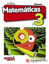 MATEMÁTICAS 3º PRIMARIA. MONOVOLUMEN. PIEZA A PIEZA +TALLER RESOLUCIÓN PROBLEMAS.