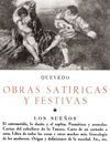 OBRAS SATÍRICAS Y FESTIVAS I