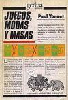 JUEGOS, MODAS Y MASAS