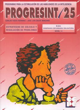 PROGRESINT 25 ESTRATEGIA DE CÁLCULO Y RESOLUCIÓN DE PROBLEMAS