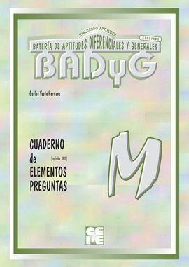 BADYG M. CUADERNO DE PREGUNTAS