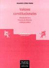 VALORES CONSTITUCIONALES. INTROD.A LA FILOSOFIA DEL DERECHO