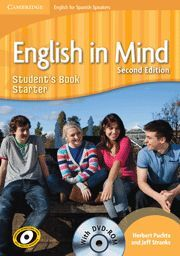 ENGLISH IN MIND FOR SPANISH SPEAKERS STARTER STUDENT BOOK + DVD