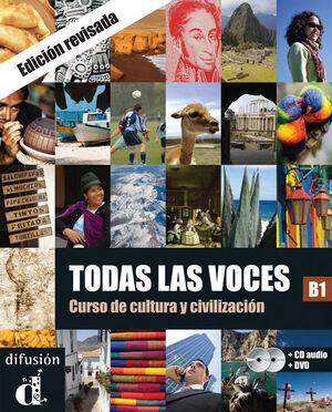 TODAS LAS VOCES (NUEVA EDICIÓN) - LIBRO DEL ALUMNO + CD + DVD NIVEL B1