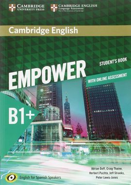 CAMBRIDGE ENGLISH EMPOWER FOR SPANISH SPEAKERS B1+ STUDENT'S BOOK WITH ONLINE AS