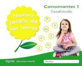 NUEVO JARDIN DE LETRAS CONSONANTES 1 CUADRÍCULA