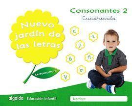 NUEVO JARDIN DE LAS LETRAS CONSONANTES 2 CUADRÍCULA