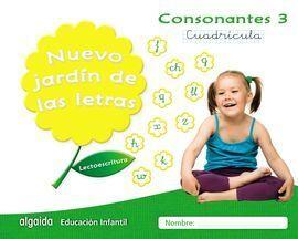 NUEVO JARDÍN DE LAS LETRAS 3 CUADRÍCULA CONSONANTES