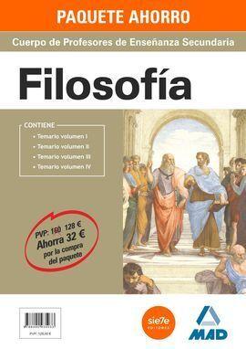 PACK AHORRO FILOSOFIA PROFESORES ENSEÑANZA SECUNDARIA (4 VOL.)