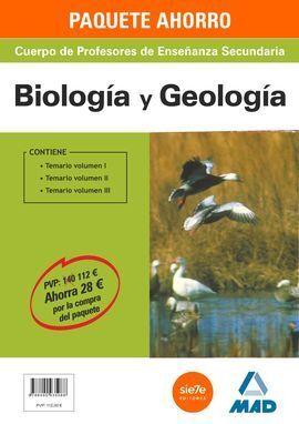 PACK AHORRO BIOLOGIA Y GEOLOGIA PROFESORES ENSEÑANZA SECUNDARIA