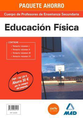 PACK AHORRO EDUCACION FISICA PROFESORES ENSEÑANZA SECUNDARIA