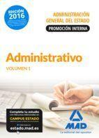 TEMARIO 1 ADMINISTRATIVO DE LA ADMINISTRACIÓN GENERAL DEL ESTADO (PROMOCIÓN INTERNA) 2016