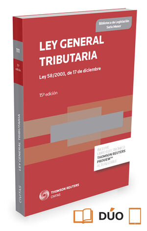 LEY GENERAL TRIBUTARIA (PAPEL + E-BOOK) 2015