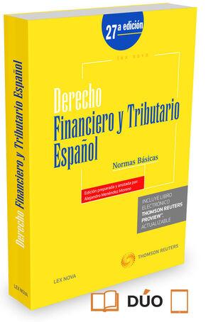DERECHO FINANCIERO Y TRIBUTARIO ESPAÑOL. NORMAS BÁSICAS. 27ED/2015  **