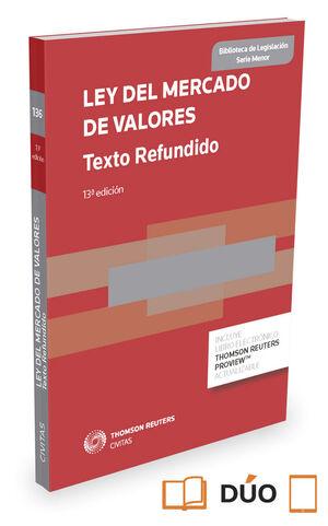 LEY DEL MERCADO DE VALORES (TEXTO REFUNDIDO) (PAPEL + E-BOOK)