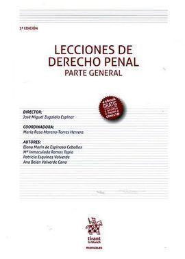 LECCIONES DE DERECHO PENAL PARTE GENERAL 3ª EDICIÓN 2016