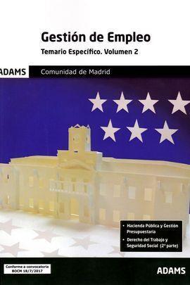 TEMARIO ESPECÍFICO 2 GESTIÓN DE EMPLEO DE LA COMUNIDAD DE MADRID