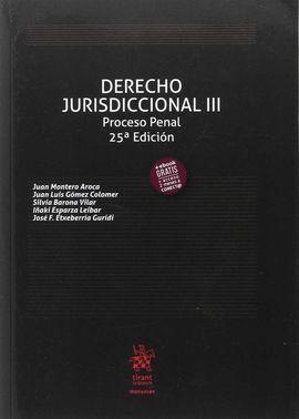 DERECHO JURISDICCIONAL III PROCESO PENAL 25ª EDICIÓN 2017