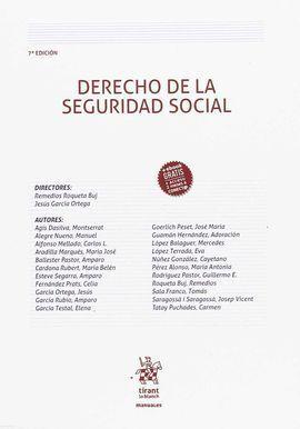DERECHO DE LA SEGURIDAD SOCIAL 7 EDICION 2018