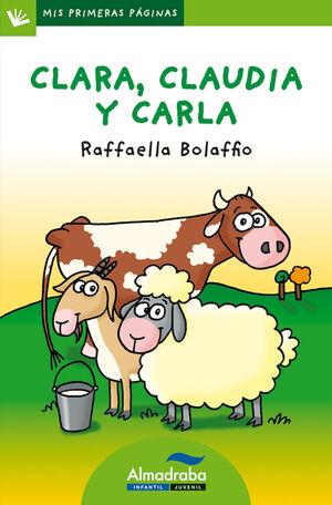 CLARA, CLAUDIA Y CARLA (LETRA PALO)