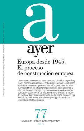 EUROPA DESDE 1945 EL PROCESO DE CONSTRUCCIÓN