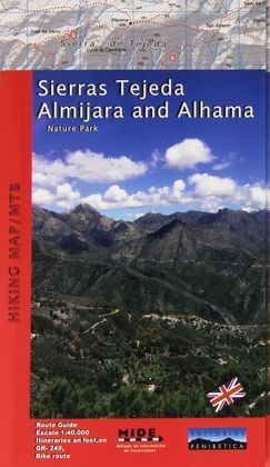 SIERRAS TEJEDA ALMIJARA AND ALHAMA NATURE PARK HIKING MAP