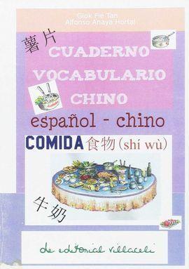 CUADERNO VOCABULARIO CHINO. COMIDA