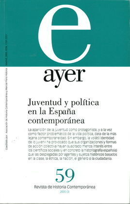 JUVENTUD Y POLÍTICA EN LA ESPAÑA CONTEPORÁNEA