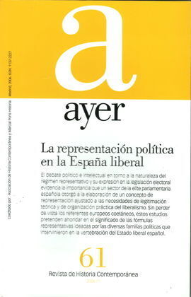 REVISTA AYER. Nº61. 2006