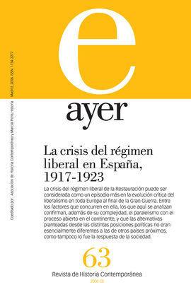 AYER. REVISTA DE HISTORIA CONTEMPORÁNEA N 63 2006