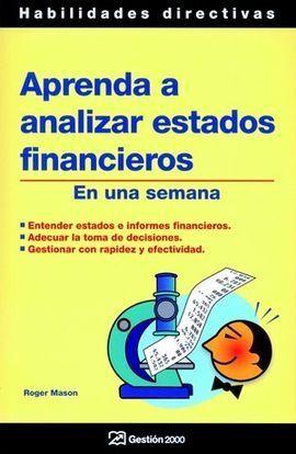 APRENDA A ANALIZAR ESTADOS FINANCIEROS