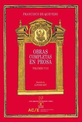 OBRAS COMPLETAS EN PROSA. VOL. VIII