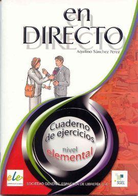 EN DIRECTO. CUADERNO DE EJERCICIOS NIVEL ELEMENTAL