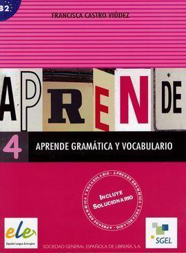 APRENDE GRAMÁTICA Y VOCABULARIO 4