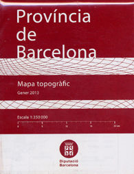 MAPA TOPOGRÀFIC, PROVÍNCIA DE BARCELONA, E 1:350 000