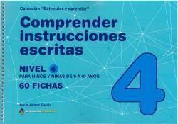 COMPRENDER INSTRUCCIONES ESCRITAS - NIVEL 4