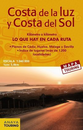 MAPA DE CARRETERAS DE LA COSTA DE LA LUZ Y LA COSTA DEL SOL (DESPLEGABLE), ESCAL
