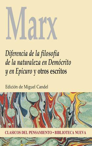 DIFERENCIA DE LA FILOSOFÍA DE LA NATURALEZA EN DEMÓCRITO Y EN EPICURO Y OTROS ES